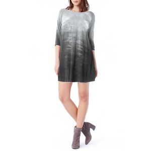 NEW Michael Stars tie dye long sleeve swing dress